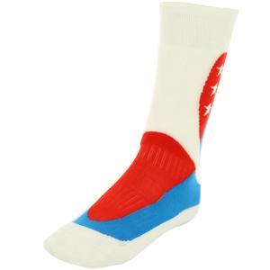Çocuk 3 Yıldızlı Beyaz-Kırmızı-Mavi Garson Çorap 137720-427