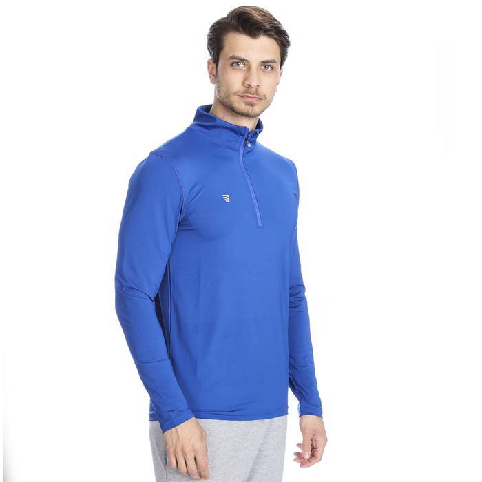 Warm-Up Poli Erkek Mavi Günlük Stil Tişört Tke5002-1-00M 1080430
