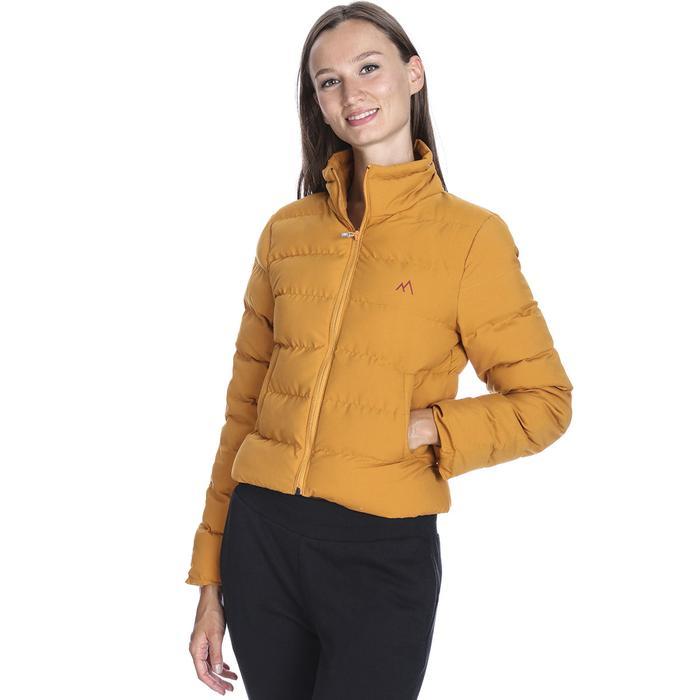 Kadın Sarı Kapüşonlu Outdoor Mont M100033-TRN 1093176