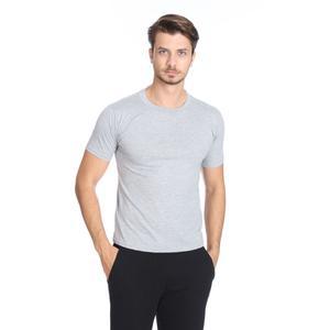 Basic Erkek Gri Günlük Stil Tişört 060020021GR0