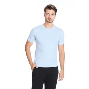 Basic Erkek Mavi Günlük Stil Tişört 060020021MV6