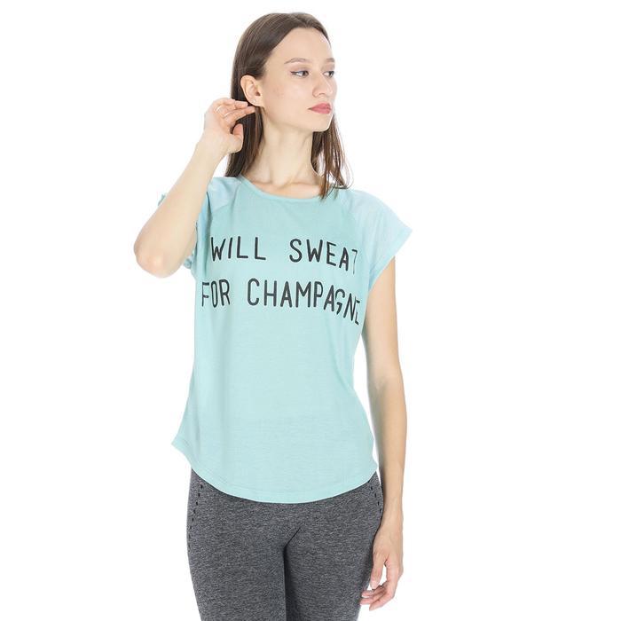 Kesweat Kadın Mavi Koşu Tişört 710609-BRN 1063816