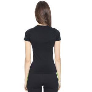 Seamduz Kadın Siyah Koşu Tişört 710744-SYH