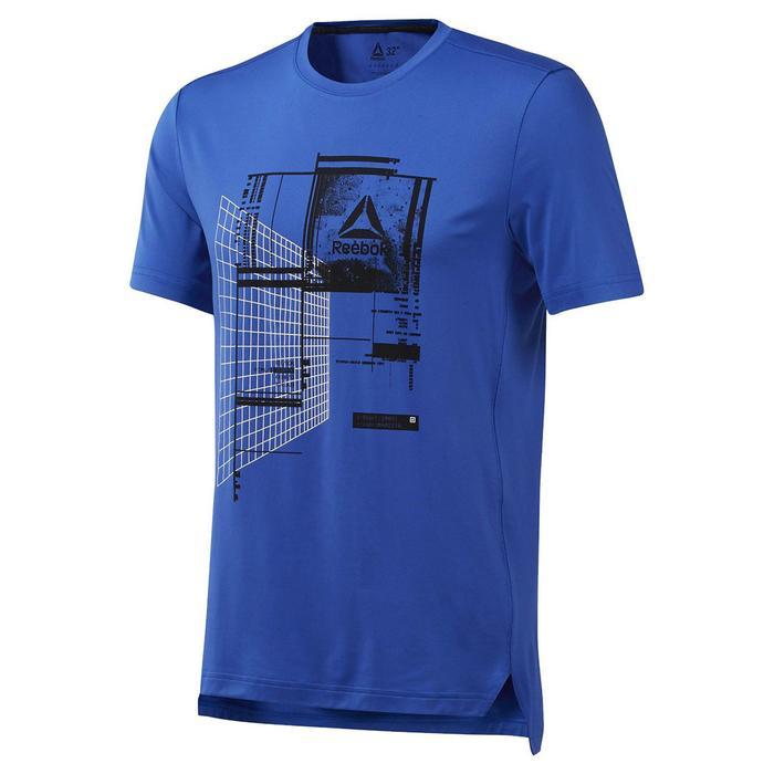Wor Recy Graph Tech Erkek Mavi Antrenman Tişört DP6151 1116471