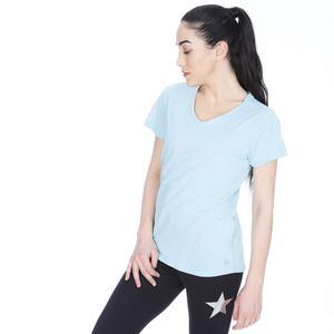 Flakestop Kadın Mavi Koşu Tişört 710180-BRN