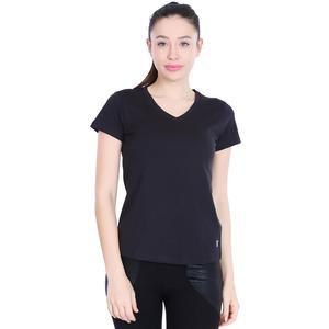 Flakestop Kadın Siyah Günlük Stil Tişört 710180-00B