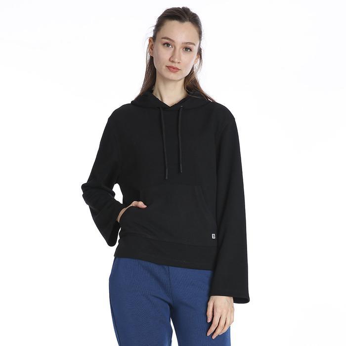 Kadın Siyah Kapüşönlü Sweatshirt 711015-SYH 1158542