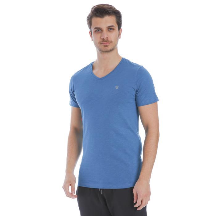 Flavebasic Erkek Mavi Günlük Stil Tişört 710387-PTR 1137459