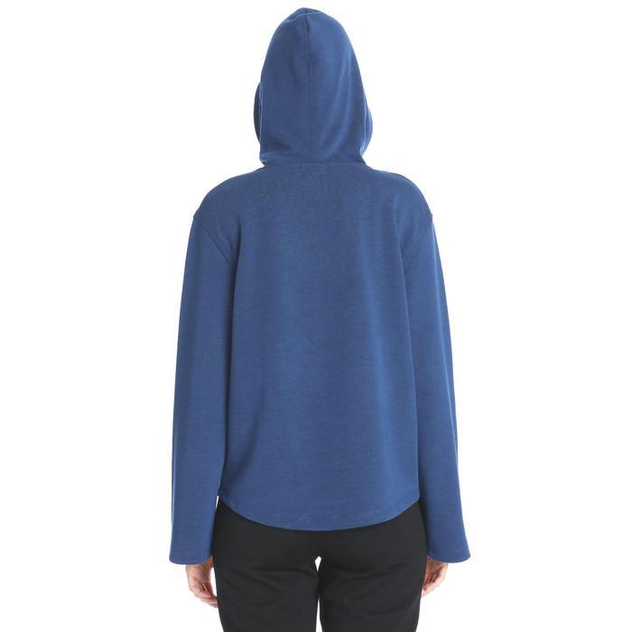 Kadın Mavi Kapüşönlü Sweatshirt 711015-PTR 1158535