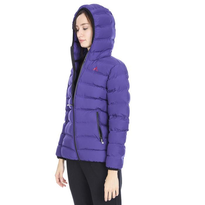 Kadın Mor Kapüşonlu Outdoor Mont M100057-MOR 1111779