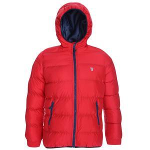 Çocuk Kırmızı Kapüşonlu Outdoor Mont B10007-KRM