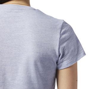 Marble Logo Kadın Gri Antrenman Tişört EC2323