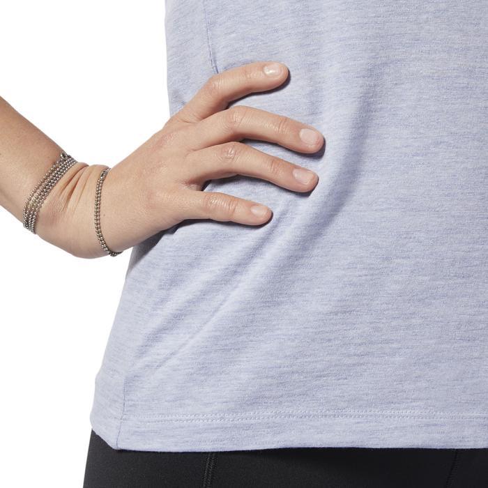 Marble Logo Kadın Gri Antrenman Tişört EC2323 1146551