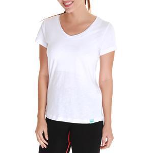 Spo-Flakestop Kadın Beyaz Günlük Stil Tişört 610003-00W-SP