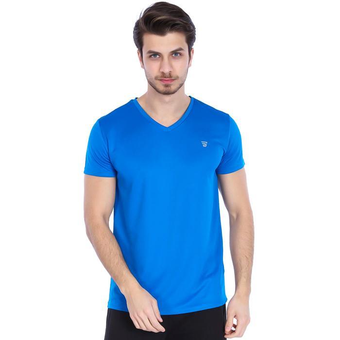Polvebasic Erkek Mavi Günlük Stil Tişört 710303-0IM 987919