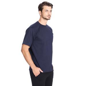 Basic Erkek Lacivert Günlük Stil Tişört 060020021LC1