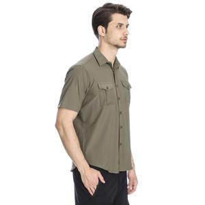 Spo-Safkisshirt Erkek Haki Koşu Gömlek 710116-0FR-SP