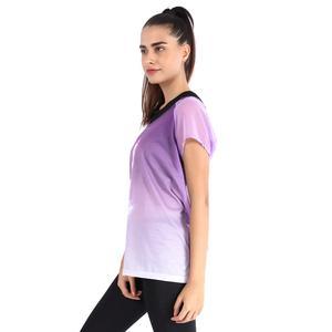 Kestulprint Kadın Mor Koşu Tişört 710447-LPL