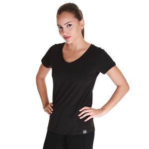 Spo-Flakestop Kadın Siyah Günlük Stil Tişört 610003-00B-SP