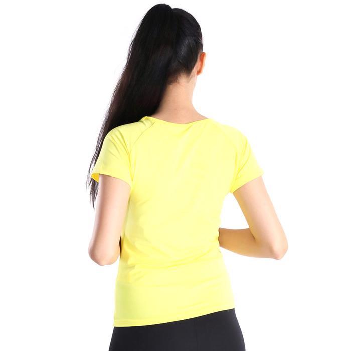 Polnecku Kadın Sarı Günlük Stil Tişört 400215-SUN 714350