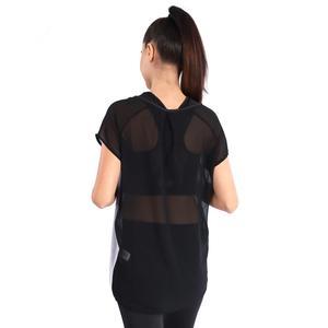 Kestulprint Kadın Siyah Koşu Tişört 710447-00B
