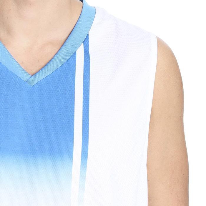 Cougar Erkek V Yaka Beyaz-Mavi Basketbol Forması 201421-0BX 636429