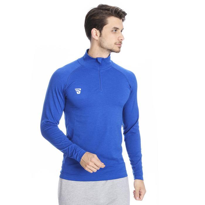 Warm-Up Seamless Erkek Mavi Günlük Stil Uzun Kollu Tişört Tke5002-00M 1079088