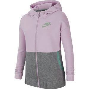Nsw Air Ft Fz Hoodie Çocuk Kırmızı Tenis Sweatshirt CU8302-676