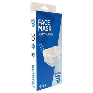 Üç Katlı Telli 10lu Cerrahi Maske SPT-MASKE10