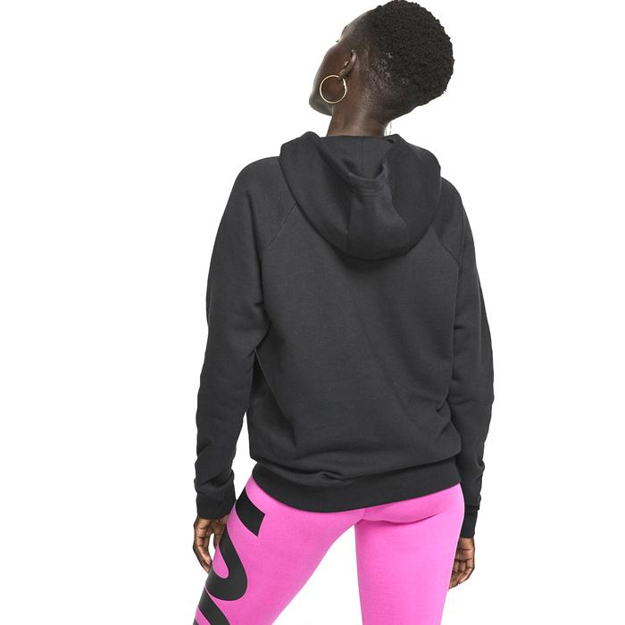 Essntl Hoodie Po Flc Kadın Siyah Günlük Stil Sweatshirt BV4124-010 1156352
