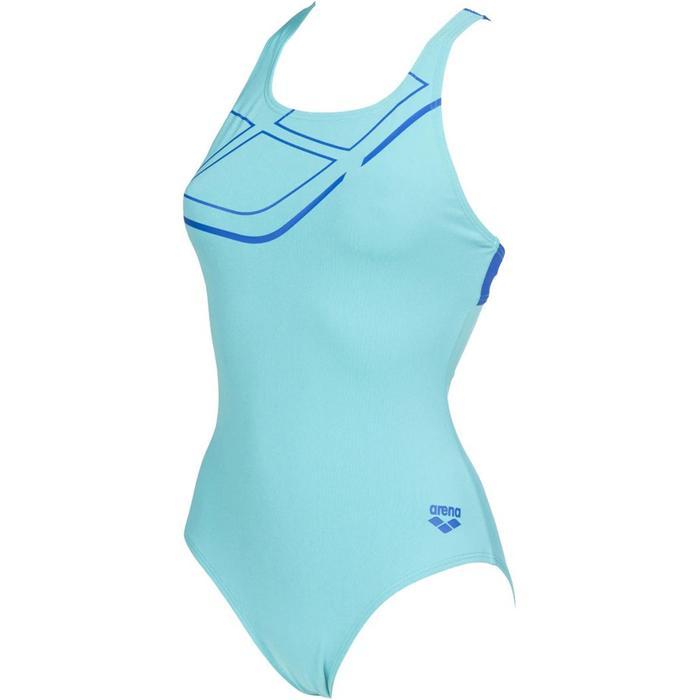 W Essentials Swim Pro Back One Piece Lb Kadın Mavi Yüzücü Mayo 002543880 1189611