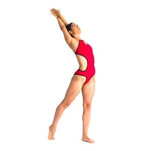 W One Biglogo One Piece Kadın Kırmızı Yüzücü Mayo 001198450