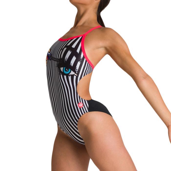 W Crazy Make Up Challenge Back One Piece Kadın Siyah Yüzücü Mayo 002845540 1146695