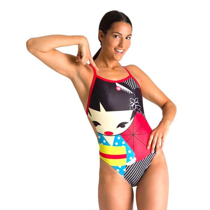 W Crazy Kokeshi Lightech Back One Piece Kadın Siyah Yüzücü Mayo 002835540 1146684