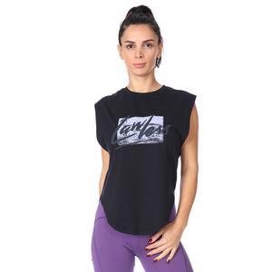 Kadın Siyah Tişört 711033-SYH