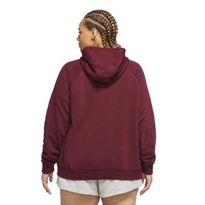 W Nsw Essntl Hoody Fz Flc Plus Kadın Kırmızı Günlük Stil Sweatshirt CJ0401-638