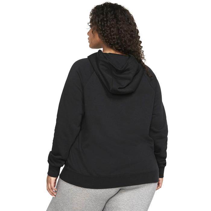 W Nsw Essntl Hoody Po Flc Plus Kadın Siyah Günlük Stil Sweatshirt CJ0409-010 1234907