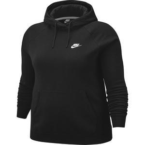 W Nsw Essntl Hoody Po Flc Plus Kadın Siyah Günlük Stil Sweatshirt CJ0409-010