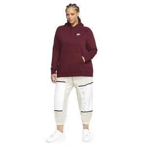 W Nsw Essntl Hoody Po Flc Plus Kadın Kırmızı Günlük Stil Sweatshirt CJ0409-638