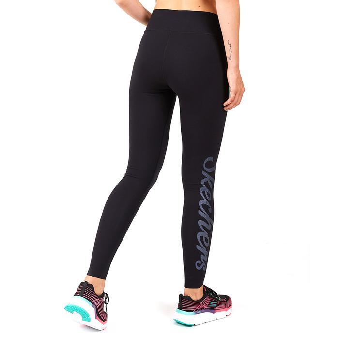 Legging S W Logo Print Kadın Siyah Günlük Stil Tayt S202265-001 1225091