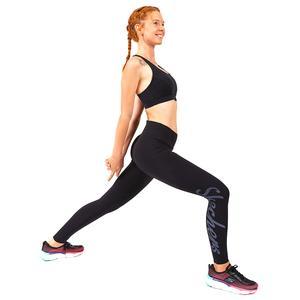 Legging S W Logo Print Kadın Siyah Günlük Stil Tayt S202265-001