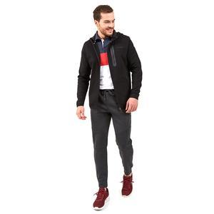 2X I-Lock M Printed Zip Erkek Siyah Günlük Stil Sweatshirt S202095-001