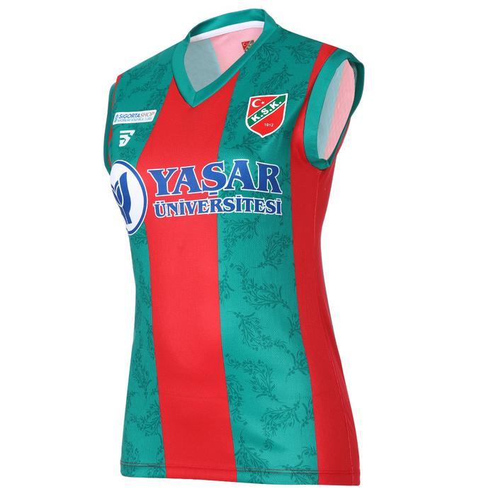 Karşıyaka Kadın Kırmızı Voleybol Forma TKY100157-CBK-KSK 1236928