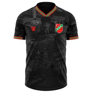 Karşıyaka Atatürk Kadın Siyah Futbol Tişört TKY100160-SYH