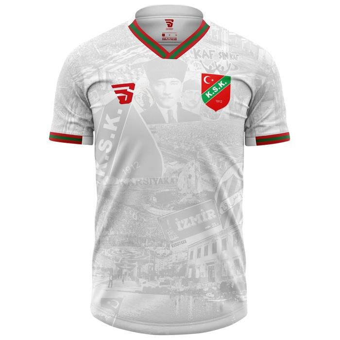 Karşıyaka Atatürk Erkek Beyaz Futbol Tişört TKY100159-BYZ 1237524