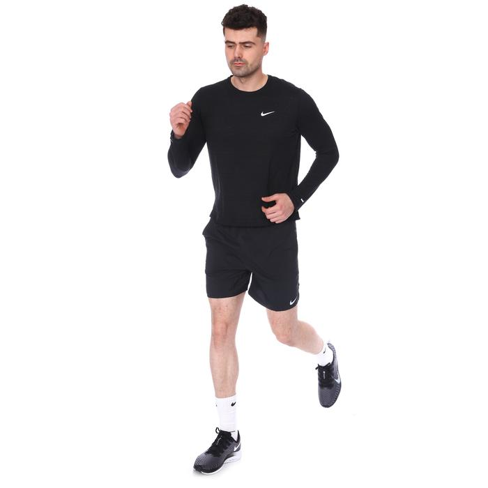M Nk Df Miler Top Ls Erkek Siyah Koşu Uzun Kollu Tişört CU5989-010 1234103