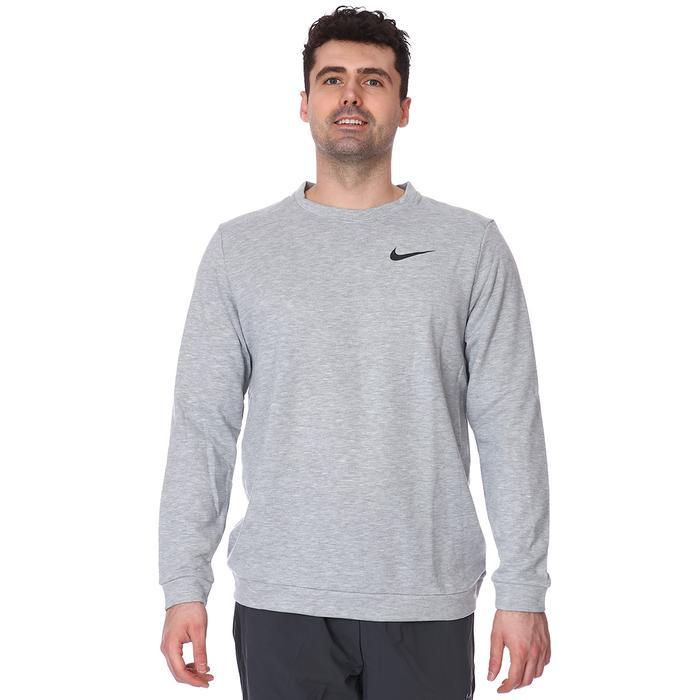 Dry Fleece Crew Erkek Gri Uzun Kollu Futbol Tişörtü CU6795-063 1233415