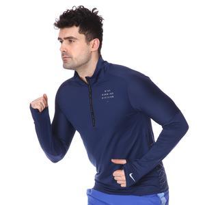 M Nk Run Dvn Elmnt Hz Gx Flsh Erkek Mavi Koşu Uzun Kollu Tişört CU7852-410