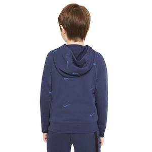 B Nsw Flc Swoosh Çocuk Mavi Günlük Stil Sweatshirt DA0774-410