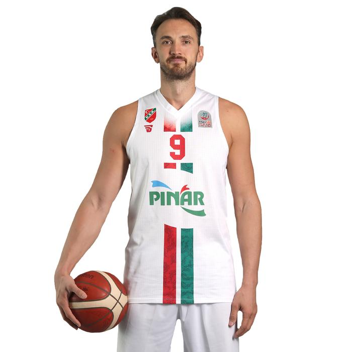 Karşıyaka Erkek Beyaz Basketbol Maç Forması TKY100148-BYZ-KSK 1236902